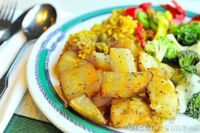 Vegetarian potato cuisine