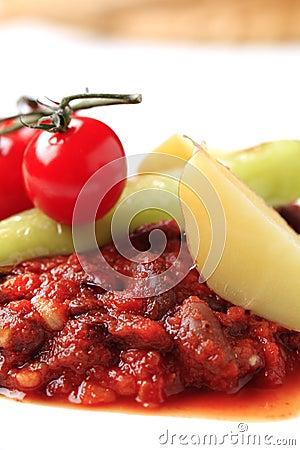 Vegetarian red bean and tomato recipe