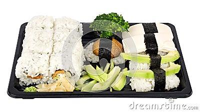 Vegetarian sushi mix