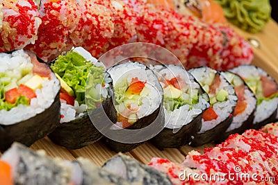 Vegetarian sushi roll