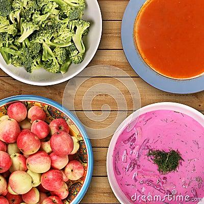 Vegetarian table
