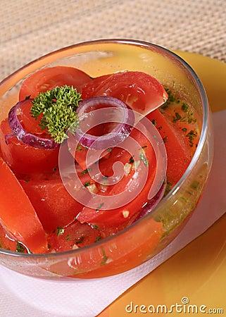 Vegetarischer Salat, gesunder Lebensstil