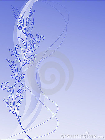 Vegetation pattern on a blue background