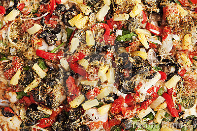 Veggie Pizza Topping Background