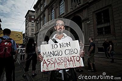 Veggie Pride held in Milan June 18, 2011 Editorial Stock Image