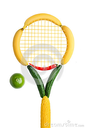 Free Veggie Tennis Federation. Stock Photo - 29159990