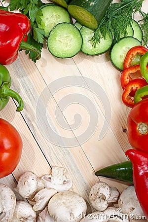 Free Veggies On Table Top Royalty Free Stock Photos - 11241718