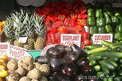 Vegtable Stand In NYC