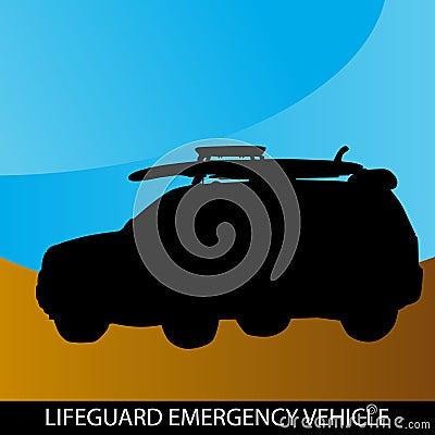 Vehículo de la emergencia del salvavidas