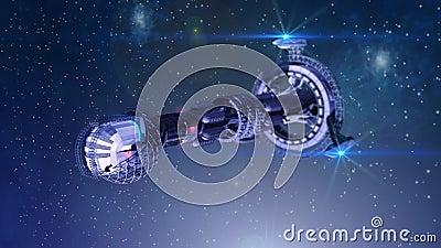 Vehículo espacial futurista