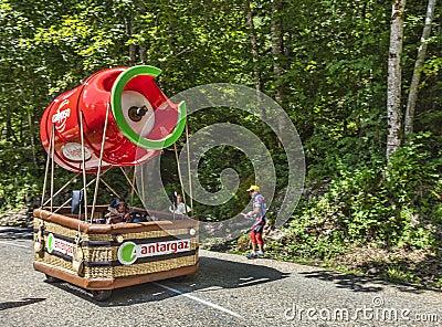 Vehículo de Antargaz Imagen editorial