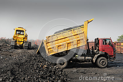 Vehicle At Coalmines Editorial Stock Image