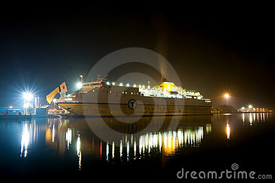 Vehicle ferry Editorial Stock Image
