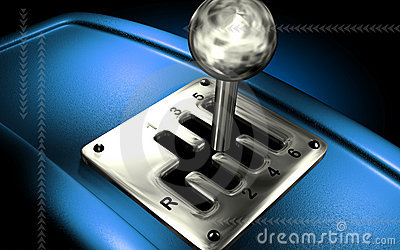 Vehicle gear lever movement