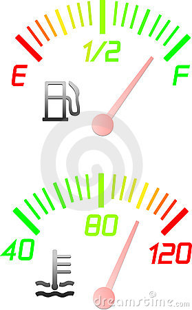 Vehicle instrument gauges