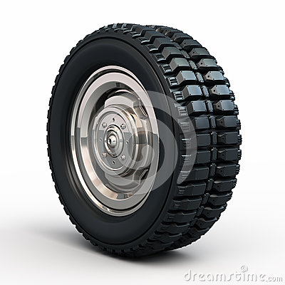 Vehicle tires and wheel
