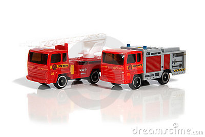 Vehicles of firefighters