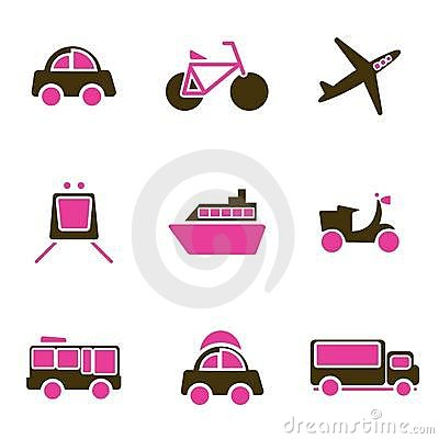 Vehicles icon set vector
