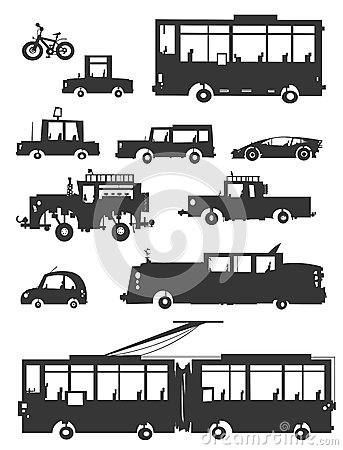 Vehicles Silhouettes.