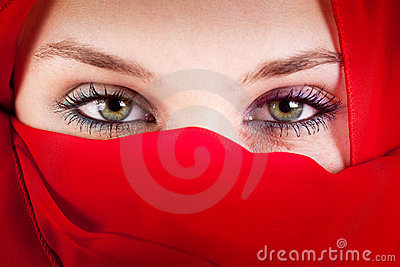 Veil Woman With Beautiful Sexy Eyes Stock Photo - Image: 15080670