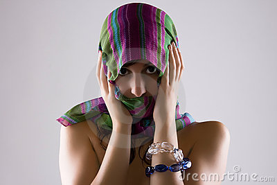 Veiled Woman In Shadows