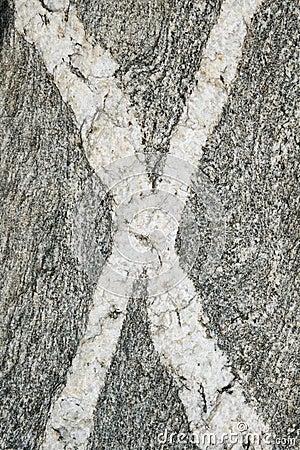 Veines de la roche X