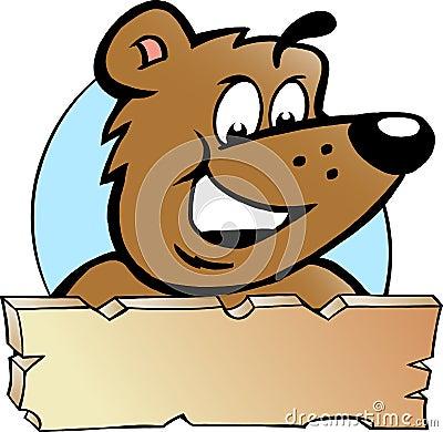 Vektorabbildung eines glücklichen stolzen Braunbären