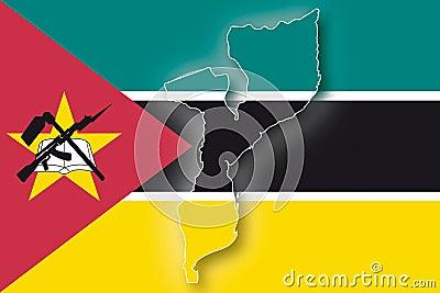 Vektormarkierungsfahne Mosambik