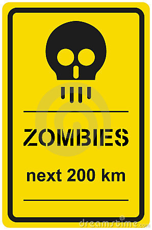 Vektorzeichenzombies folgende 200 Kilometer