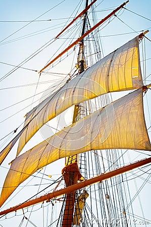 Velas altas de la nave