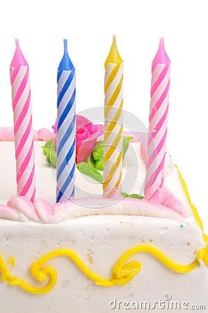 Velas do aniversário com trajeto