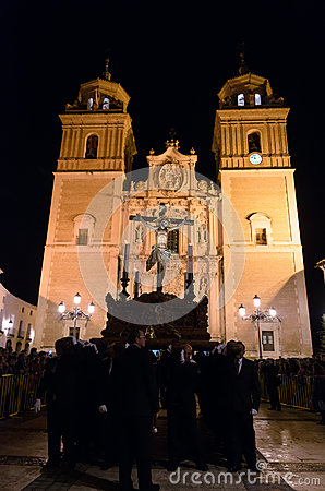 Procession of Cristo del Perdon in Velez-Rubio Editorial Photography