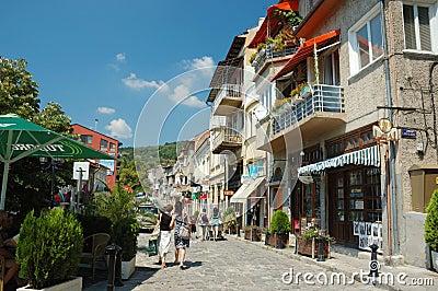 Veliko Tarnovo old town street ,Bulgaria Editorial Photography