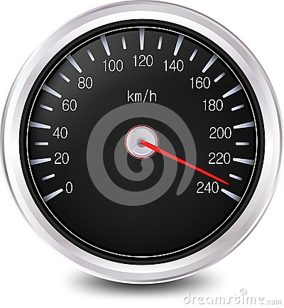 Velocímetro del automóvil. Vector