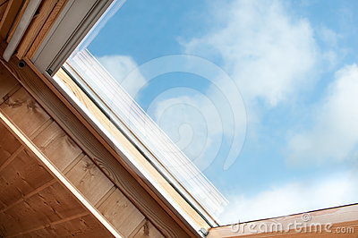 Velux and skylight in close up