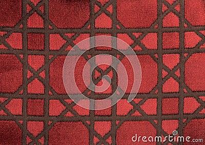 Velvet bottom with geometricals forms.