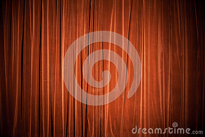 Velvet red-brown curtain background texture