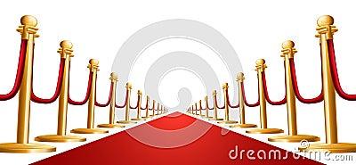 Velvet rope and red carpet illustration