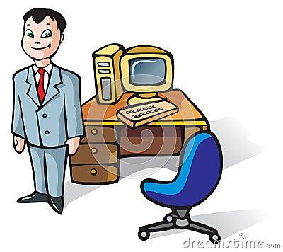 Vendedor de oficina