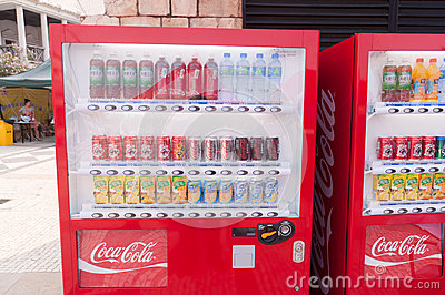 Vending machine Editorial Stock Photo