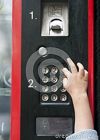 Vending machine dial