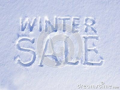 Vendita di inverno della neve