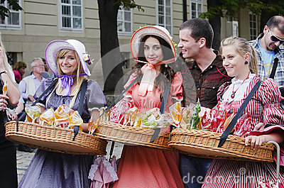 Vendors candy Editorial Image