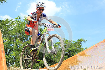 Vendula Kuntova - MTB cross country Editorial Stock Photo