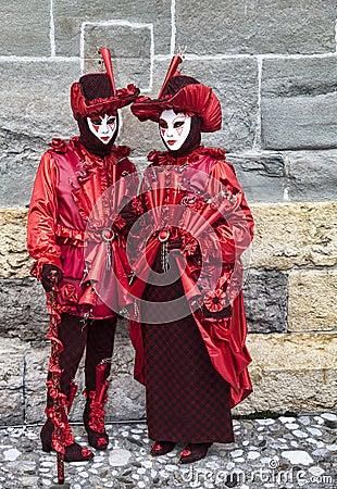 Gente disfrazada Imagen editorial