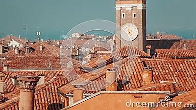 Venecia, Italia, edificios históricos antiguos metrajes