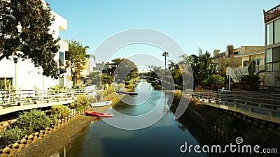 Venedig kanaler på lågvatten arkivfilmer