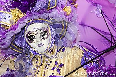 Venetiaans Masker Redactionele Afbeelding