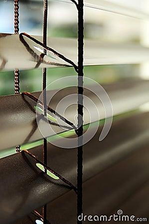 Venetian blinds detail