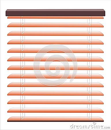 Venetian blinds vector